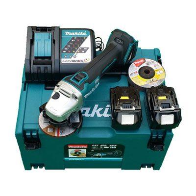 Máy mài cắt chạy pin Makita DGA408RTJ1 (18V) 5.0ah